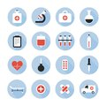 Medical and health vector colorful icons set design elements Stock Photography