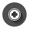 Medical health vector icon. Medicine hospital plus sign illustra Royalty Free Stock Photo