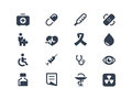Medical and healthcare icons Royalty Free Stock Photo