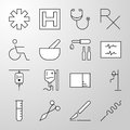 Medical, Hospital, Health thin line vector icon
