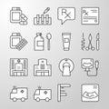 Medical, Hospital, Health thin line vector icon