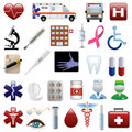 Medical and hospital icons set Stock Photography