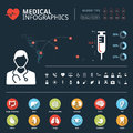 Medical human organs icon set with human body and world map info graphic