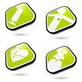 Medical icon buttons Stock Photos