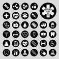 Medical icon set basic Stock Photography