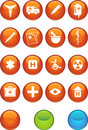 Medical Icon Set - Round Stock Images