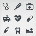 Medical icon set vector illustration of medicine on light background Stock Photography