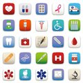 Medical icon set for web deign Stock Photo