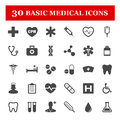 Medical icon set on white background Royalty Free Stock Photography