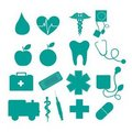 Medical icons Stock Photo