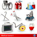 Medical icons 5 Stock Photos
