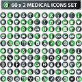 Medical icons, button web set Royalty Free Stock Photo