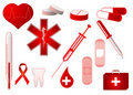 Medical icons collection Stock Photo