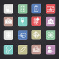 Medical icons color vector eps Stock Images