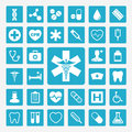 Medical icons colorful icon set Stock Photography