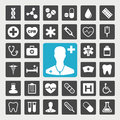 Medical icons healthcare and icon set Stock Photography