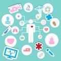 Medical icons illustration eps vector set Stock Image