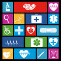 Medical icons over black background vector illustration Royalty Free Stock Photography