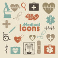 Medical icons over cream background vector illustration Royalty Free Stock Photography
