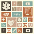 Medical icons over pink background vector illustration Royalty Free Stock Image