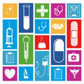 Medical icons over white background vector illustration Stock Images