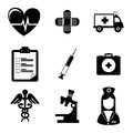 Medical icons over white background vector illustration Stock Image