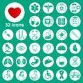 Medical icons set: general, tools, organs, symbols Royalty Free Stock Photo