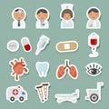 Medical icons set illustration of Royalty Free Stock Photography