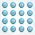 Medical icons set internet buttons Stock Images