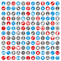 Medical icons set, 144 medical vector signs collection. Royalty Free Stock Photo