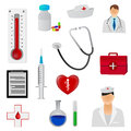 Medical icons set of tools and symbols Stock Photography