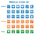 Medical icons set vector of and medicine signs Stock Image