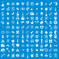 Medical icons set, vector set of medical and medicine signs. Royalty Free Stock Photo