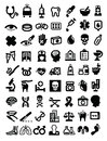 Medical icons vector black icon set on white Stock Photo