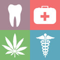 Medical icons vector clip art Royalty Free Stock Images