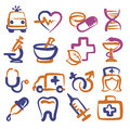 Medical icons vector color set on white Royalty Free Stock Images