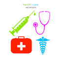 Medical icons vector isolated on white Royalty Free Stock Photo