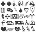 Medical icons vector isolated on white background Royalty Free Stock Photography