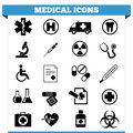 Medical icons vector set of web and design elements for hospital ambulatory clinic or other health care institution illustration Stock Photos