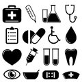 Medical icons on a white background vector illustration Stock Images