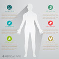 Medical info graphics for graphic Stock Image