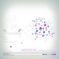 Medical infographic elements in format Stock Images