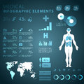 Medical infographic elements vector format Royalty Free Stock Images