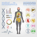 Medical infographics Royalty Free Stock Photography