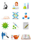 Medical investigation icons Stock Photo
