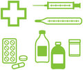 Medical Items – Vector illustration Royalty Free Stock Photo