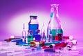 Medical laboratory glass equipment still life Royalty Free Stock Photo