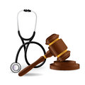 Medical law concept illustration design over a white background Royalty Free Stock Image