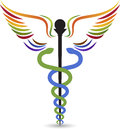 Medical logo illustration art of a with background Royalty Free Stock Images