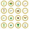 Medical marijuana icon circle